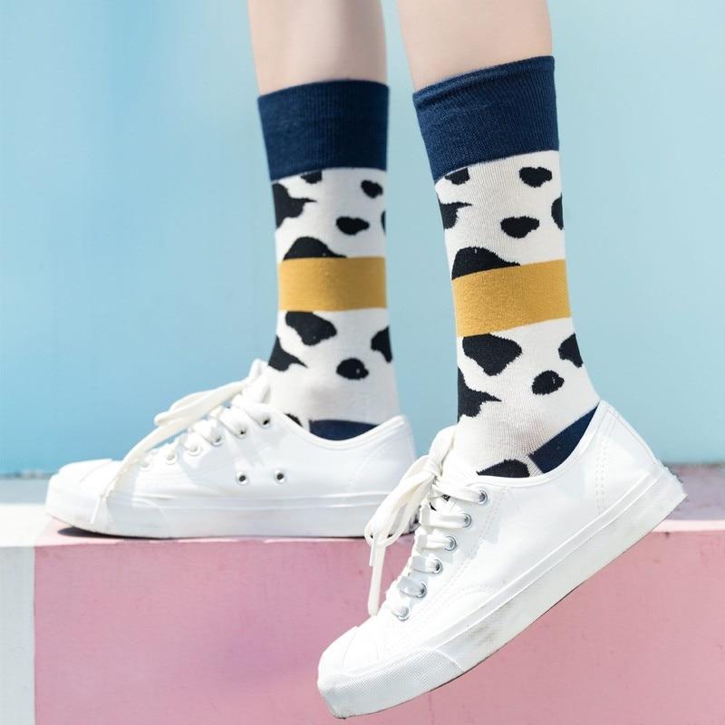 Jeseca 2019 Autumn Winter Socks Hot Sale Women Harajuku Streetwear Ankle Sox Girls Cute Animal Print Cotton Soft Christmas Sock