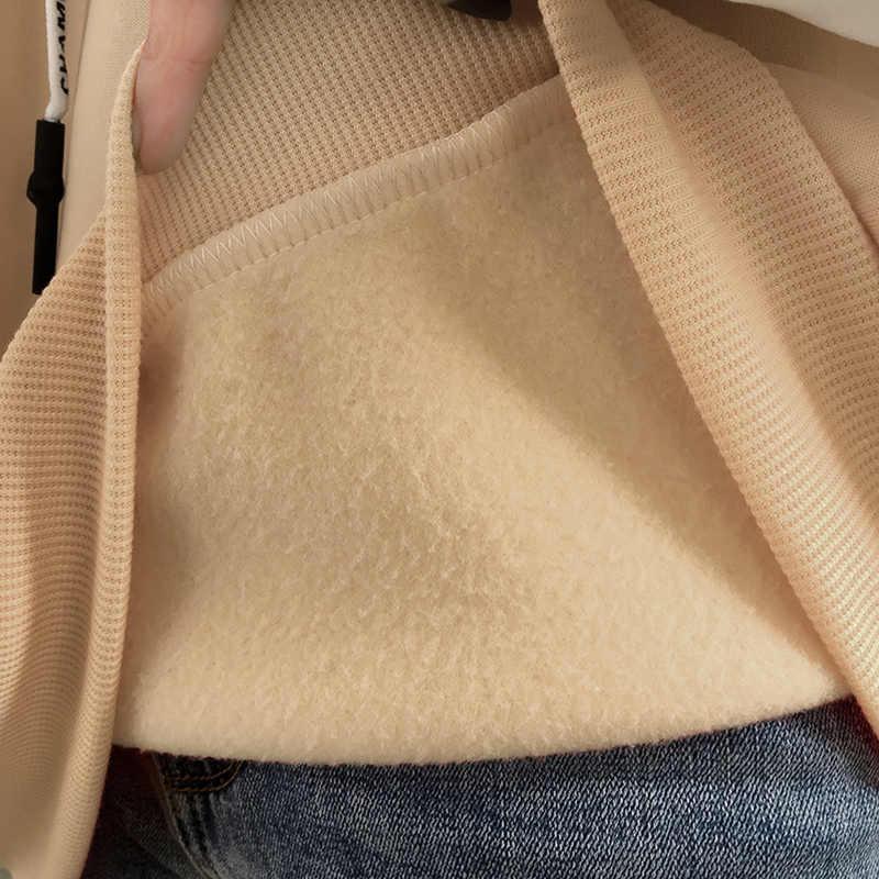 المرأة الأصلي الإقامة الجديدة الخريف والشتاء سميكة أفخم فضفاضة هوديي معطف bts البلوز harajuku قميص معطف الشتاء