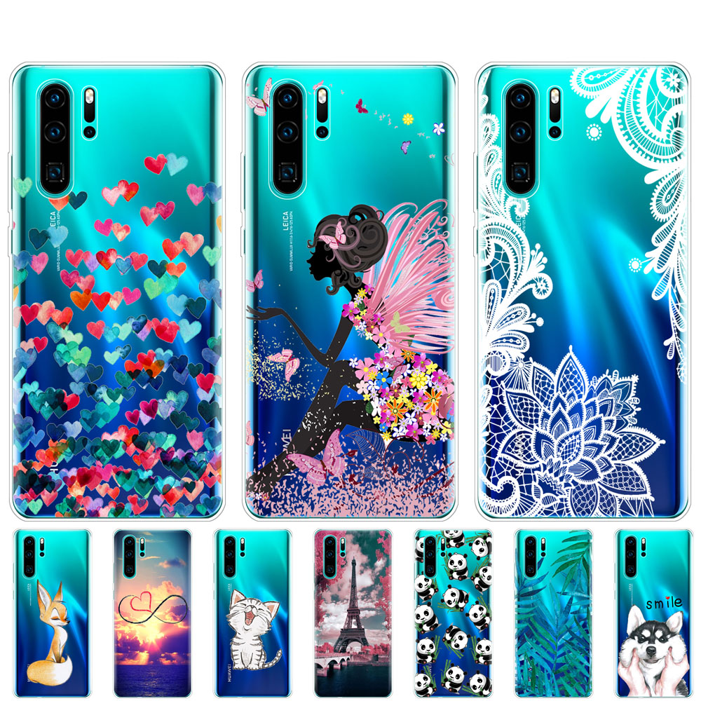 case for Huawei P30 Pro Case Silicone TPU Phone Back Cover On for Huawei P30 Pro VOG-L29 ELE-L29 P 30 Lite coque bumper