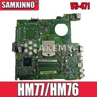 V3-471 DAZQSAMB6E1 Moederbord Voor For Acer Aspire E1-431 E1-471 E1-431G E1-471G V3-471G Laptop Originele Test Moederbord HM77/HM76
