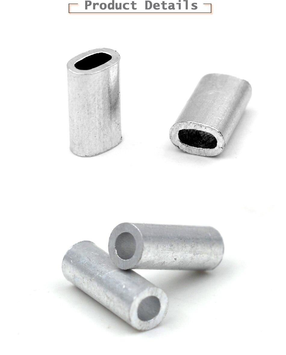 Lot 600Pcs Single Mono Messing Angeln Crimp Ärmel Copper Line Tube