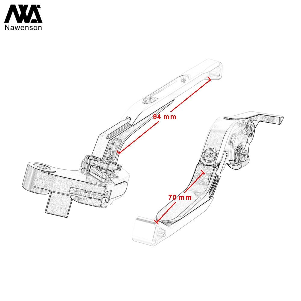 פלאזמה בלמי CNC מתכוונן מתקפל אופנוע להארכת מצמד רכיבים לפתרון ימאהה FZ-09 MT-09 / SR FZ-07 MT-07 2014-2018 2017 2016 (5)
