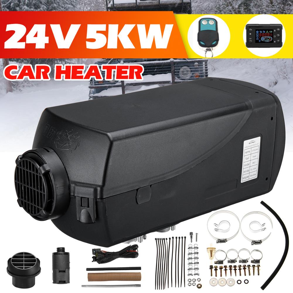 24V Car Heater 5KW Car Parking Air Diesels Fuel Heater 1 Hole 5000W for RV Boats Motorhome Trucks Trailer Car Accessories image
