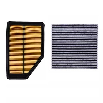 Air Filter Cabin Filter 2 pcs Set For Honda CITY 2008-2014/Crider 2013 2015/CR-V 2007 2009 2010-Today Car Accessoris Filter Set image
