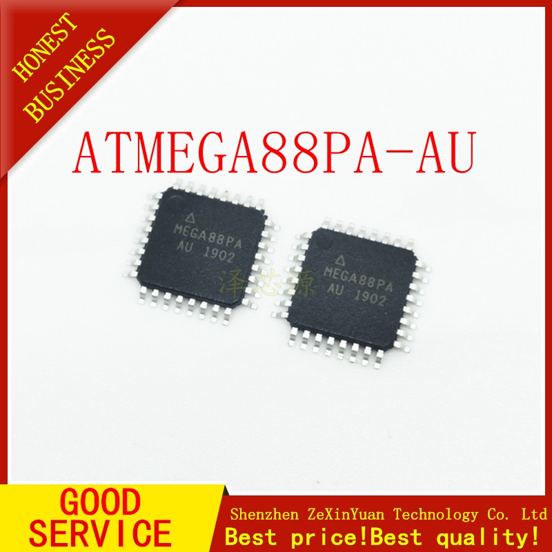 10PCS/LOT  ATMEGA88PA-AU ATMEGA88PA ATMEGA88 QFP-32  Original IC In Stock!