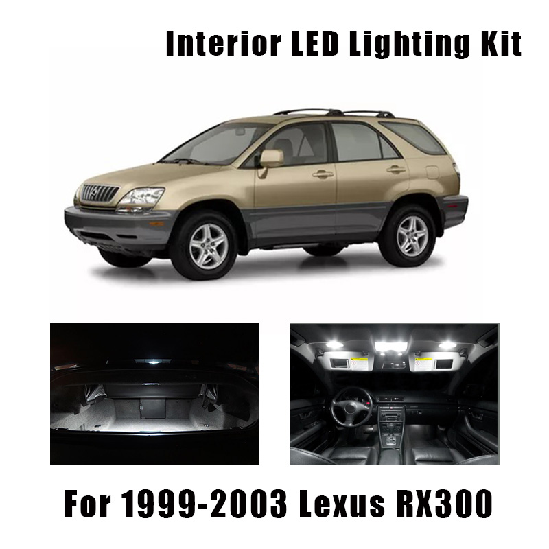 9pcs White Canbus LED Bulbs Interior Dome Trunk Door Light Kit For 1999-2001 2002 2003 <font><b>Lexus</b></font> <font><b>RX300</b></font> License Plate <font><b>Lamp</b></font> image