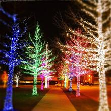 LED Street Garland String Lights 10/20M 30M 50M Christmas Lights Outdoor EU plug Garden Trees New Year Decoration Holiday Lights led decorative street garland string fairy light 10 20m 30m decoration for christmas tree garden wedding new year holiday lights