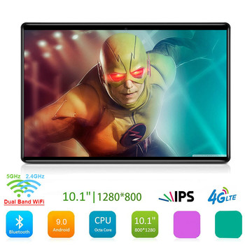 2020 Google Play Android 9.0 OS 10 inch tablet 4G Octa Core 128GB eMMC Storage 5G WiFi 1280X800 IPS Kids Gift Tablets 10 10.1