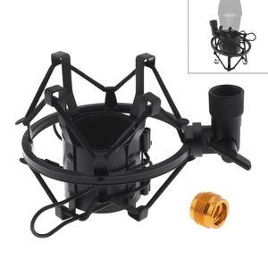 Image 1 - Metall Aufnahme Studio Clip Spinne Mikrofon Stehen Shock Mount mit Kupfer Transfer für Computer Kondensator Mikrofon
