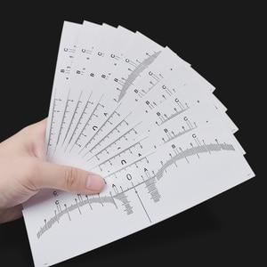 Image 5 - 10 قطعة قابلة لإعادة الاستخدام شبه الدائم الحاجب رولميكروبلادينغ Calliper استنسل ماكياج العين الحاجب قياس أداة الحاجب دليل حاكم