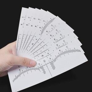 Image 5 - 10PC לשימוש חוזר חצי קבוע גבות RulerMicroblading Calliper סטנסיל איפור עיניים מצח למדוד כלי גבות מדריך שליט