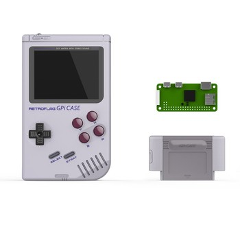 Retroflag GPi Funda clásica consola de juegos de mano para Raspberry Pi Zero/Zero W/GameBoy Pi con apagado seguro