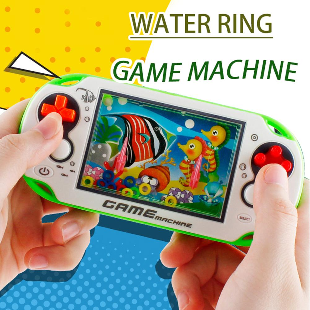 Water Ring Small Game Machine Random Nostalgic Childhood Children's Retro Toy Game Machine Circling Game Machine Non-electric