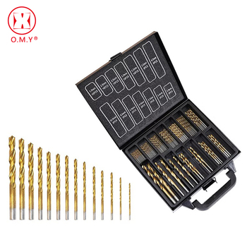 цена на 99pcs HSS Titanium Coated Twist Drill Bit Set 1.5-10mm Twist Drills Bits For Drilling Woodworking Tool