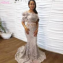 2021 серебряное кружевное вечернее платье с открытыми плечами