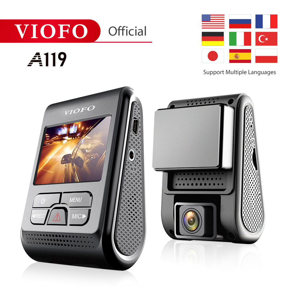 VIOFO A119 V2 Quad HD Car DVR Super Capacitor 2K 2560*1440P Car Dash Video Recorder DVR Optional GPS CPL Filter(China)