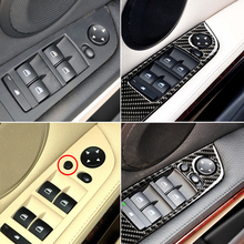 цена на 4Pcs For BMW E90 E93 3 Series 05-12 LHD Car Interior Carbon Fiber Door Window Switch Panel Cover Trim Car Styling Accessories
