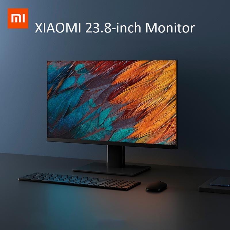 XIAOMI Monitor komputera 1920*1080 23.8 cali ekran Full HD 24W 169 wyświetlacz 250 nit jasność z HDMI gniazdo zasilania na PC