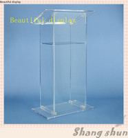 Customized Acrylic Lectern  Clear Acrylic Church Lectern  Clear Acrylic Church Pulpit  Clear Acrylic Church Podium|Móveis para teatro| |  -