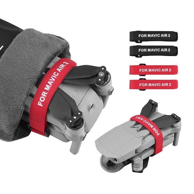 2pcs Propeller Blade Mount for DJI Mavic MINI Mavic AIR 2 Pro Platinum 2 Pro Zoom Drone Magic Tape Straps Loop Ties Accessories