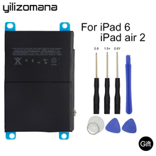 YILIZOMANA Original Tablet Battery For iPad 6 Air 2 7340mAh Original Replacement Battery For ipad 6 Air 2 A1566 A1567 Tools yilizomana for ipad air 2 battery 7340mah li ion internal original replacement battery for ipad 6 air 2 a1566 a1567 with tools
