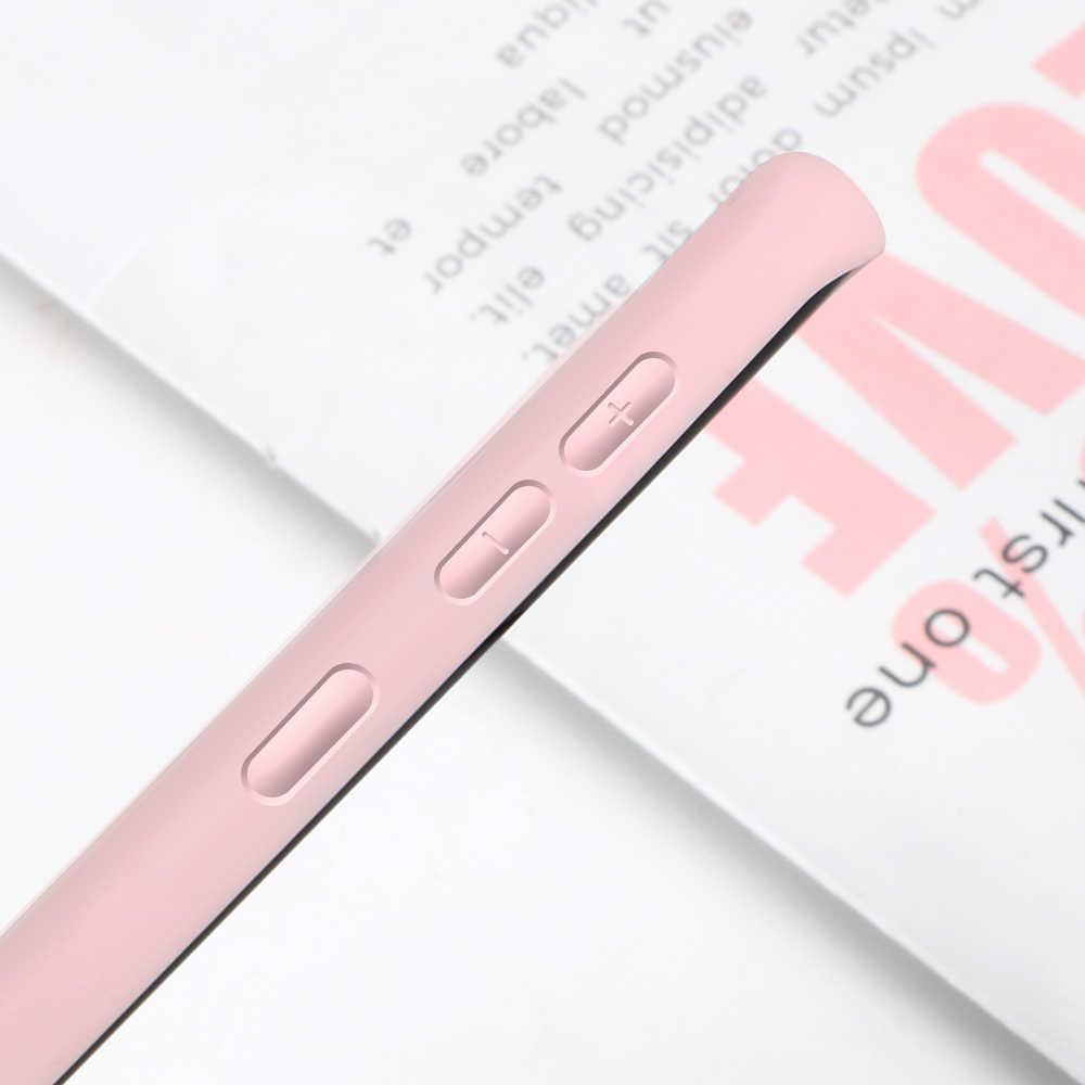 Chất Lỏng Dẻo Silicone Dành Cho Samsung Galaxy S10 S9 S8 Plus Note 10 9 8 A50 A70 A80 30 40 20e A7 2018 Mỏng Màu Kẹo Mềm Mại Ốp Lưng