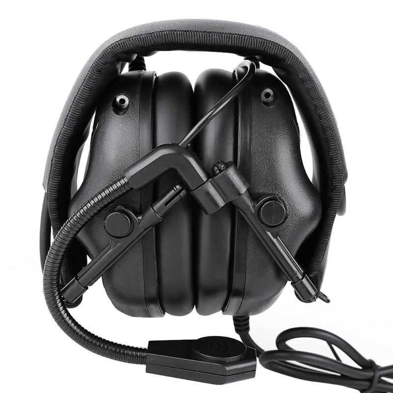 Adaptador de fone de Ouvido Do Jogo de Caça IPSC Headphone