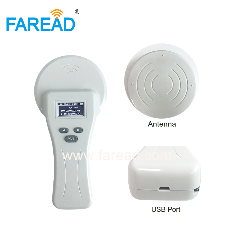 Free Shipping 134.2khz LF FDX-A,HDX, FDX-B Animal Microchip Reader For Pets,cat,dog,cattle Data Management