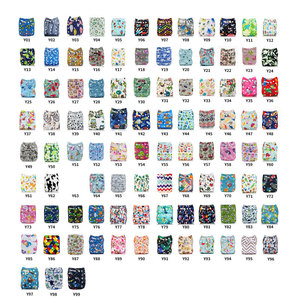 Image 2 - [Mumsbest] 10 Pcs Baby Cloth Diapers Nappies With 10 Inserts Washable Waterproof Reusable diaper Suit 0 2 years 3 15kg