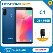 글로벌 버전 HOMTOM C1 16G ROM 5.5 인치 휴대 전화 13MP 카메라 지문 18:9 디스플레이 안드로이드 8.1 MT6580A 스마트 폰 잠금 해제