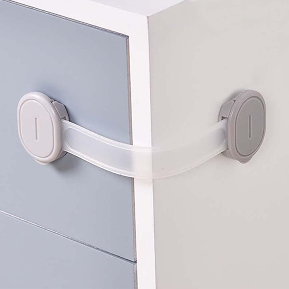 1 Pcs Baby Safety Lock Drawer Lock Multi-function Protection Baby Refrigerator Lock Children Long Cabinet Door Lock High Quality
