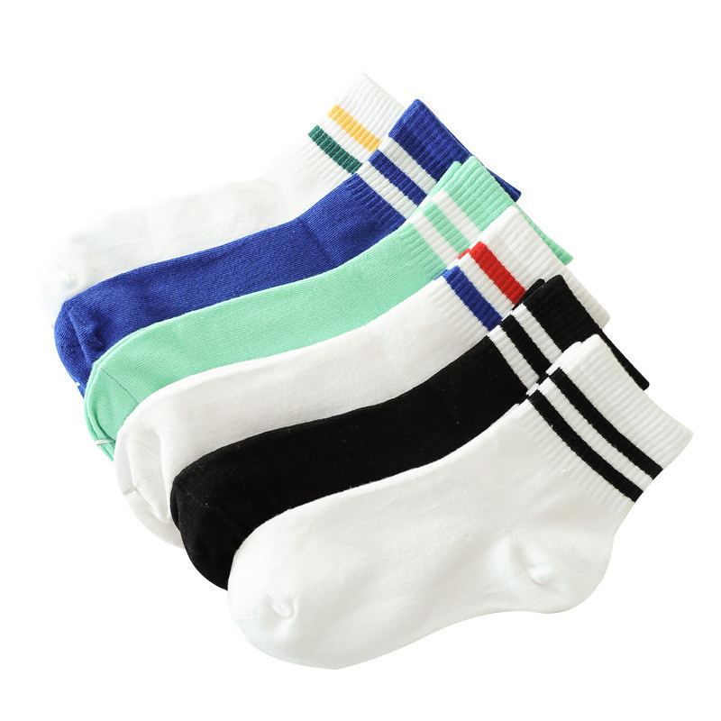 Men Autumn and Spring Comfortable Cotton   Socks   Solid striped Sports Classic   Socks   in Five Color High Quality New Fashion 2019