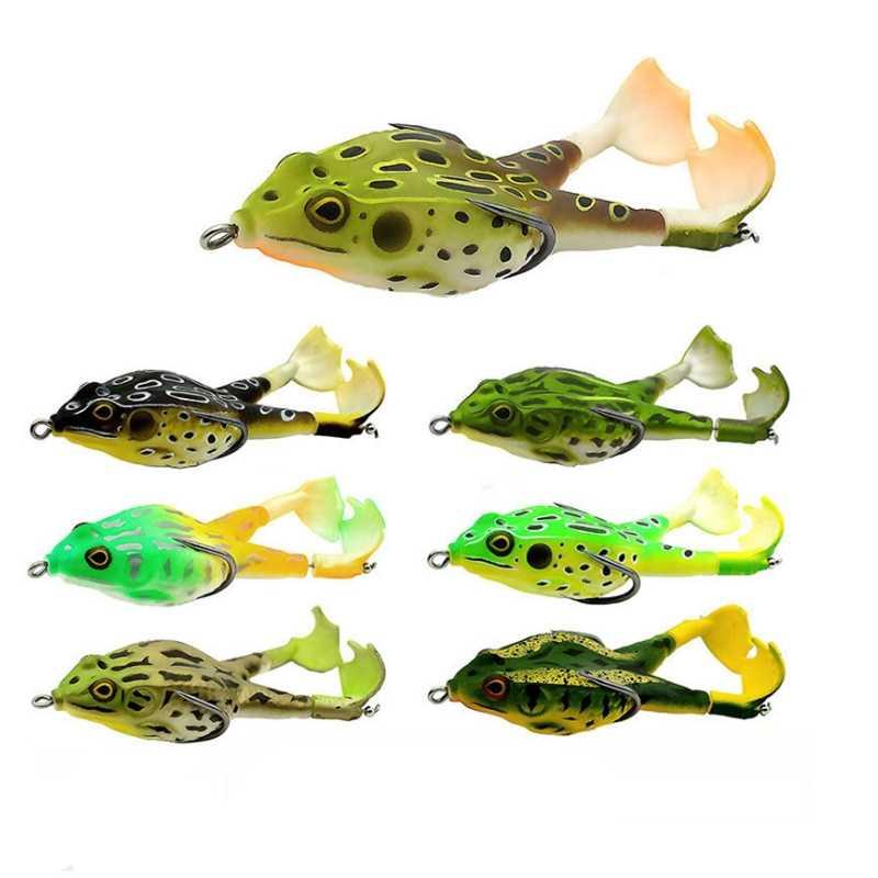 4Pcs 9cm Trolling Bait Minnow Fishing Lure Frogs Shape Crankbait Tackle Wobbler