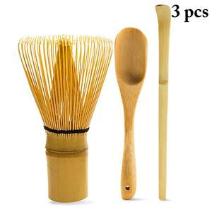 3 шт. японский чайный набор включает в себя матча бамбуковый венчик традиционный совок и чайная ложка