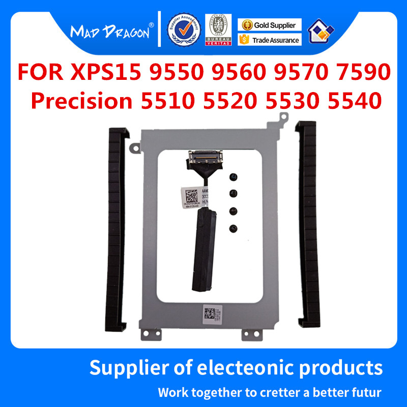 Hard Drive Bracket Caddy HDD Disk Drive Cable For Dell M5510 M5520 M5530 M5540 XPS15 9550 9560 9570 7590 0K0K71 03FDY3 0XDYGX