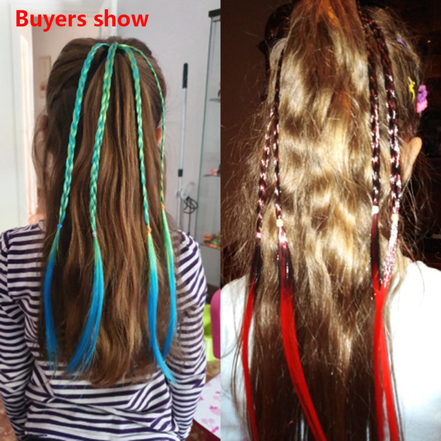 New Cute Girls Elastic Hair Rope Rubber Bands Braides Hair Accessories Wig Ponytail Hair Ring Kids Twist Braid Rope Hair Braider 5