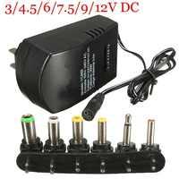 Dreamburgh Universal Power Supply AC DC Adapter Converter 100-240V 3/4.5/6V 7.5V 9V 12V Power Supply Charger 3.0A EU/US Plug