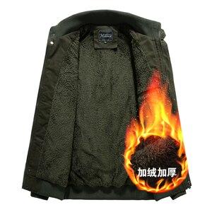 Image 5 - Chaqueta militar de invierno para hombre, chaqueta bomber gruesa de algodón, chaqueta informal de piloto de la fuerza aérea, ropa, forro de lana de talla grande, novedad de 2019