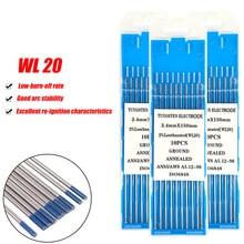 Électrode en tungstène l20 à tête bleue, 10 pièces, 1.0/1.6/2.0/2.4/3.2/4.0MM, aiguille en tungstène TIG/tige en tungstène/broche de soudure 150mm