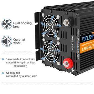 Image 4 - EDECOA sinusoidale pura potenza inverter onda DC 12V a AC 220V 1500W di picco 3000W con 5V 2.1A USB display LCD del telecomando