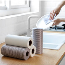 50 Pcs Disposable Rags Kitchen Non-oily Absorbent Cleaning Towel Dishwashing Cloth Cleaning Pad Non-woven Tissue недорого