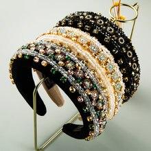 Ретро барокко полихромовая кристальная головная повязка великолепные