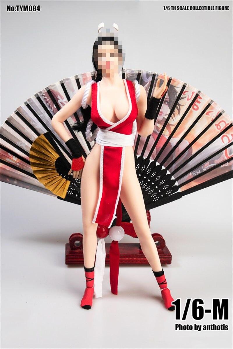 In Lager 1/6 Skala TYM084 König der Kämpfer Chunli Mai Shiranui Cosplay Kostüm Keine Körper Für 12 Zoll Puppe Sammeln abbildung