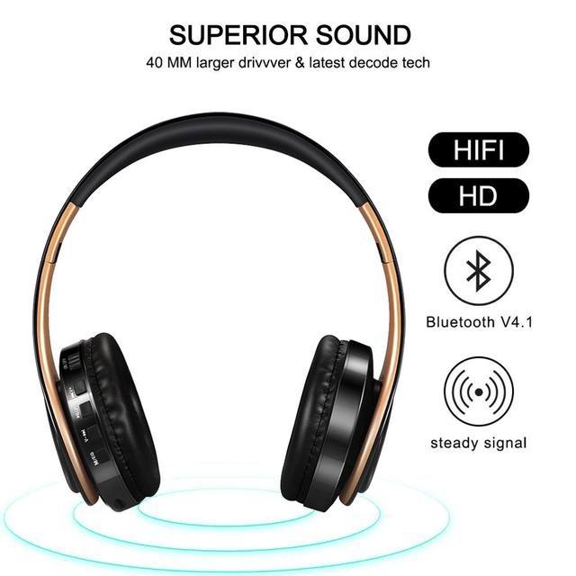 Tourya B7 Wireless Headphones Bluetooth Headset Foldable Headphone Adjustable Earphones With Mic for phone Pc Lattop Mp3 TV 2