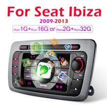 Radio Multimedia con GPS para coche, Radio con reproductor de vídeo, Android, 2 Din, SIN dvd, para Seat Ibiza 6j, 2009, 2010, 2011, 2012, 2013