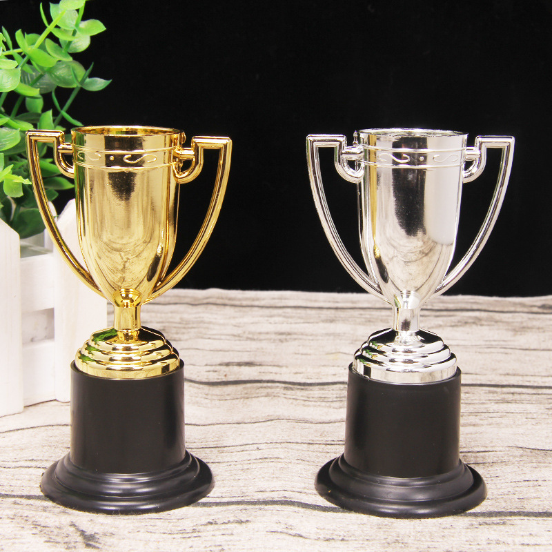 1pc Golden Cups Toys For Children Trophy Sports Winner Educational Props Kids Reward Prizes Toys
