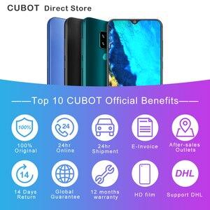"""Image 2 - Cubot j7 celular 5.7 """"18:9 exibir android 9.0 torta face id câmera traseira dupla 13mp 2800mah smartphone duplo sim cartão celular"""