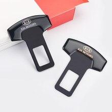 2PCS Safety Belt Buckles Car Seat Safty Belt Alarm Canceler Stopper for KIA sportage ceed kia sorento Accessories 2017 2018