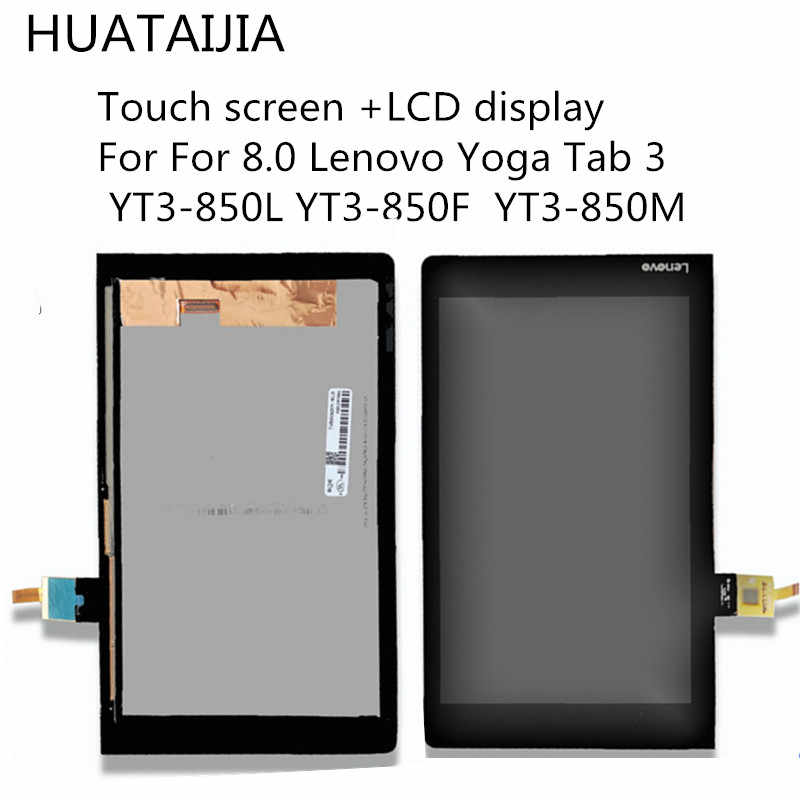 Original display lcd digitador assembléia para 8.0 lenovo yoga tab 3 YT3-850L YT3-850F YT3-850M display lcd com tela de toque