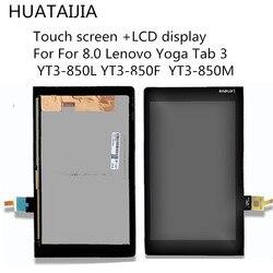 Оригинальный ЖК-дисплей с дигитайзером в сборе для Lenovo Yoga Tab 3 диагональю 8,0 дюйма, ЖК-дисплей с сенсорным экраном